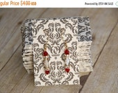 CLEARANCE Earring cards, 2x3, black damask, qty 20, last set!