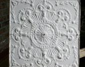 """12"""" More Recent Ceiling Tile -- White Paint - Beautiful and Ornate Design"""