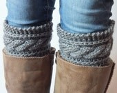 Handknit Boot Cuffs Choose Color, Hand Knit Boot Toppers, Leg Warmers Cashmere Wool-Mohair Yarn For Women Or Teens