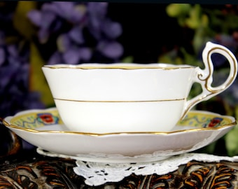 Royal Albert - High Handled and Footed Teacup Tea Cup and Saucer 12861