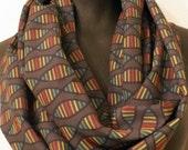 Rainbow DNA Science Scarf - Nerd Geek Silky Infinity Scarf