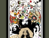 Led Zeppelin Poster. Led Zeppelin III Promo . Large A2  (40 x 60 cm )  Print
