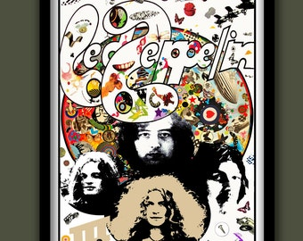 Led Zeppelin Poster.Led Zeppelin III promo . Rock promo poster . Rock wall art. Large Rock poster. A2 size Album art poster