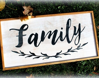 Rustic Wooden Sign - Custom Family Name Sign - est year - Made to Order