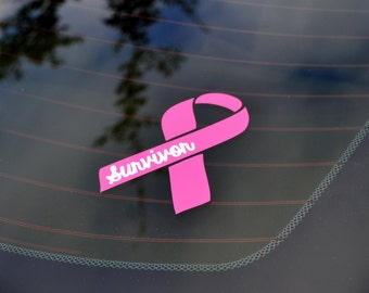 Breast Cancer Survivor Decal - Car Decal