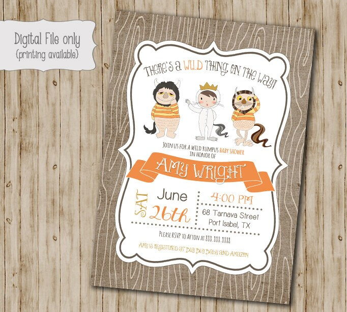 where the wild things are baby shower invitation wild things