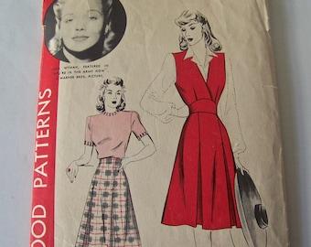 Vintage Ladies Jumper And Skirt Pattern 1930s Hollywood Pattern Jane Wyman Size 14 Sewing Pattern Vintage Sewing Room