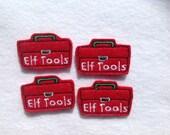 ELF TOOL BOX Felt Embellishments / Appliques - Set Of 4 - Ready To Ship