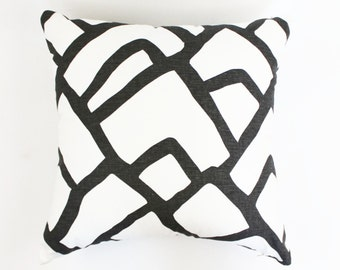 Schumacher Zimba Pillows Both Sides (Comes in 4 Colors - Shown in Charcoal)