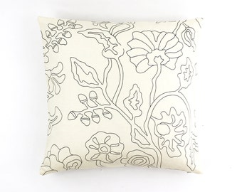 ON SALE Quadrille Alan Campbell Potalla Outline Black on Tint Pillow Covers (Both Sides)