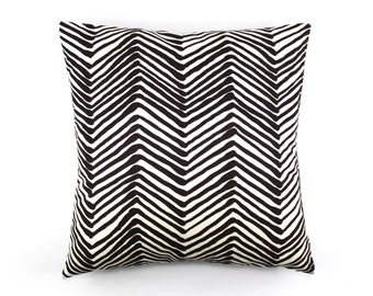 Quadrille Alan Campbell Zig Zag Custom Pillows- (Comes in 15 Colors)
