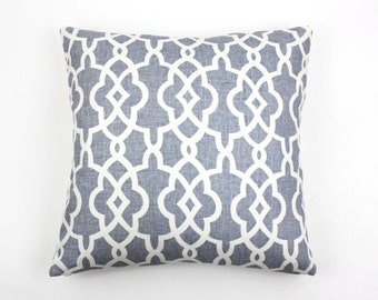Schumacher Summer Palace Fret Knife Edge Pillows-Both Sides (Comes in 4 Colors)