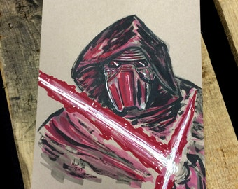 Disney Star Wars Kylo Ren Original Art