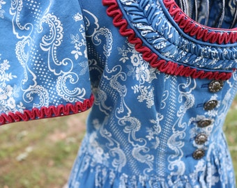 Authentic Vintage Bavarian Dress from Germany