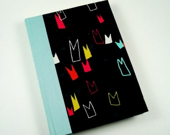 Crowns / Flags / Pennants Cloth Cover Journal - Daily Writing Journal - Diary