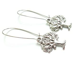 SALE - Wisdom Tree Kidney Wire Earrings