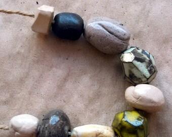 Immensity of the sea --9 ceramic art beads