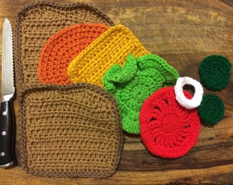 Crochet Sandwich Play Set