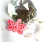 pink butterfly brooche
