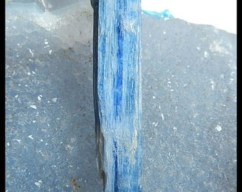 Nugget Gemstone Blue Kyanite Pendant Bead,59x14x10mm,14g