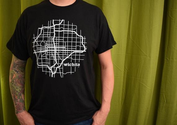Items similar to wichita kansas illustrated map t shirt for T shirt printing wichita ks