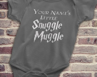 Harry Potter Custom, Harry Potter Onesie, Unique Harry Potter, Harry Potter Baby, Custom Harry Potter Baby Gift, Your Name's Snuggle Muggle