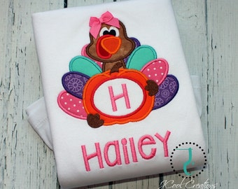 Girls Thanksgiving Shirt, Thanksgiving Dress, Turkey Shirt, Monogram Shirt, Custom, Thanksgiving Outfit, Turkey Dress, Thanksgiving Sibling