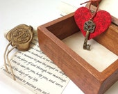 Long distance relationship gift idea. Boyfriend Girlfriend gift, Long distance Love Box - Key to your heart and a sealed love letter