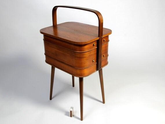 Mid Century Modern Teak Cabinet Sewing Box N 228 Htisch Juhl