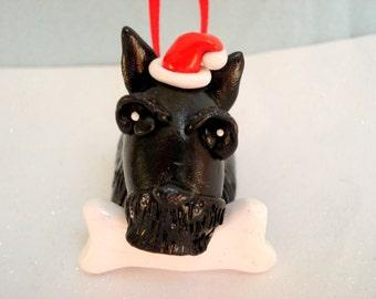 Scottish Terrier Ornament Polymer Clay Scottie Christmas Ornament Pet Ornament Christmas Decoration Puppy Ornament Christmas Ornaments