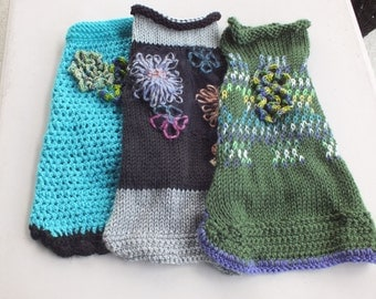 Dog Sweaters set of three Small 14 inches long LABOR DAY SALE