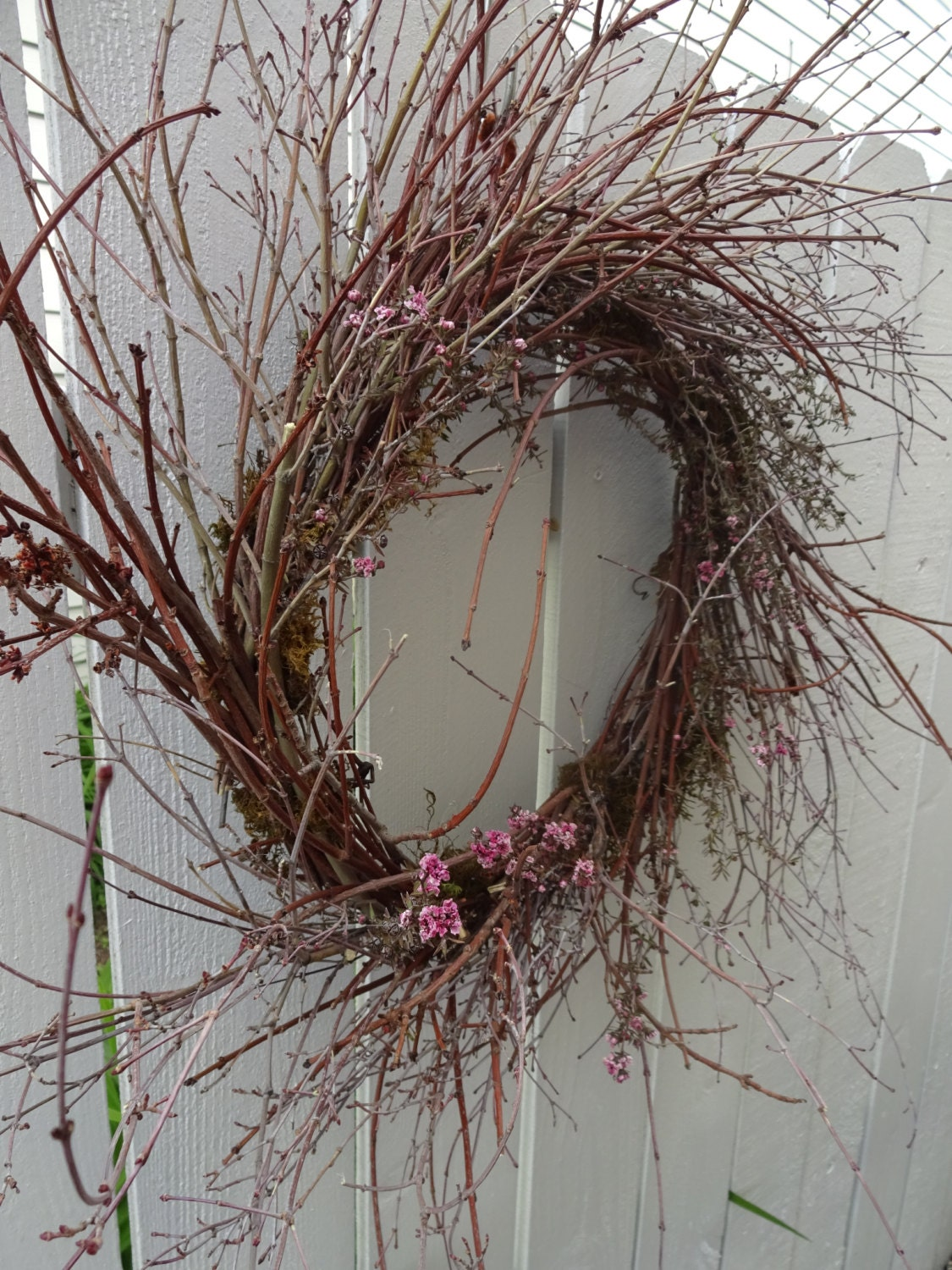Birch twig wreath natural wreath twig wreath home decor for Twig decorations home