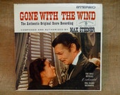 GONE WITH the WIND - Original Motion Picture Score - 1961 Vintage Vinyl Gatefold Record Album