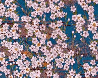 Moonlight Garden Hand-Silkscreened Japanese Chiyogami Yuzen Washi Paper Scrapbook Size  SKU# RRWPS - 1025