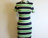 Gorgeous Stripy Vintage 1960's Mod dress by Sears Fashions- Size Us 6 / UK 12