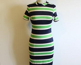 Gorgeous Stripy Vintage 1960's Mod dress by Sears Fashions- Size Us 6 / UK 12