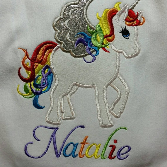 Rainbow Unicorn Machine Embroidery Designs Applique
