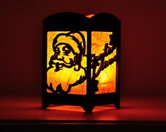 Santa Claus Light Box - Multicolor LED Candle