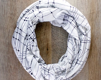 Abstract Lines Infinity Scarf