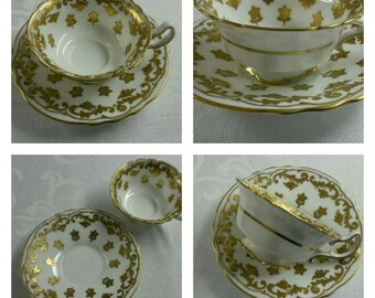 Royal Doulton cup & saucer with gold overlay circa 1930's   -807