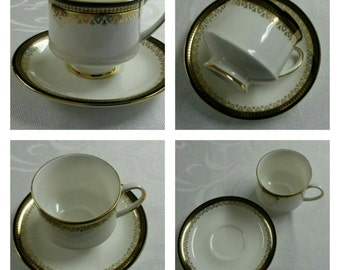 ON SALE- Royal Albert cup & saucer in the Clarence Pattern circa 1980's  -965