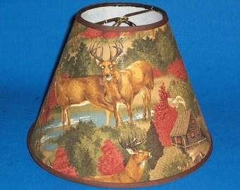 Deer in Woods Lamp Shade