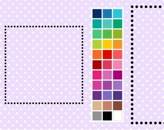 Dotty Square Digital Borders - Clip Art Frames - Instant Download - Commercial Use