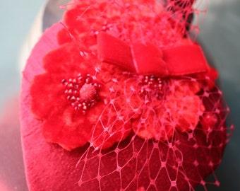 SAMPLE SALE Silk headpiece/fascinator
