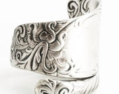 Elegant Ring, Silver Victorian Ring, Sterling Silver Spoon Ring, Antique Wallace Silver 1893 Ivanhoe, Custom Ring Size, Minimalist Ring 6288