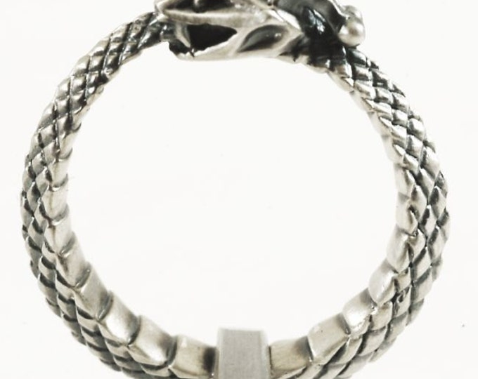 Sterling Snake Ring, Ouroboros Ring, Sterling Silver Snake Ring, Ouroborous, Uroboros, Oroboros Snake Jewelry Mens Size 11, 11.5 Ring (288)