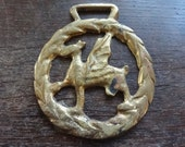 Vintage Welsh Dragon Wales Horse Brass tack decor lucky charm good luck gift souvenir medallion circa 1970's / English Shop