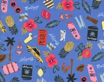 Les Fleurs Bon Voyage Periwinkle with Metallic by Ana Bond Rifle Paper