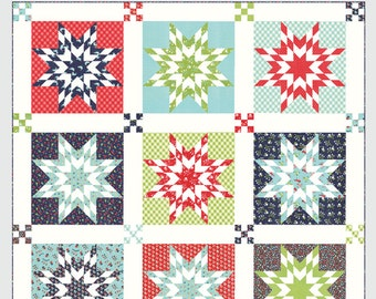 Nantucket Quilt Pattern by Camille Roskelley of Thimble Blossoms