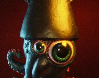 Black Shadow Squid Ornament by Tom Taggart